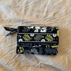 Vera Bradley Black Floral Wallet